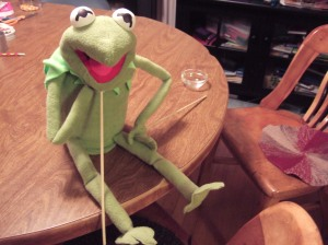 Kermit ponders Life, the Universe, and Everything.